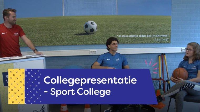 YouTube video - Collegepresentatie Sport College Amersfoort