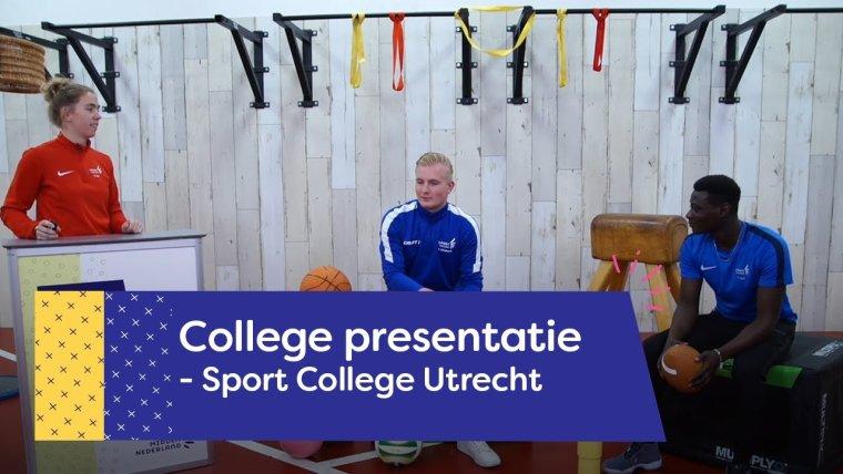YouTube video - Collegepresentatie Sport College Utrecht